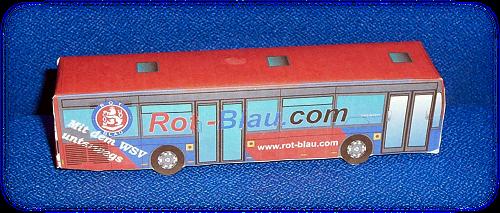 Basteln papier bus aus Girlande basteln
